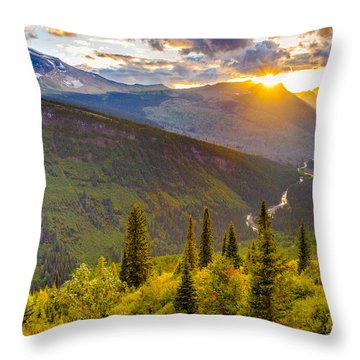 Incandescent Throw Pillow