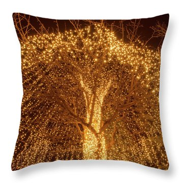Incandescent Branches  Throw Pillow