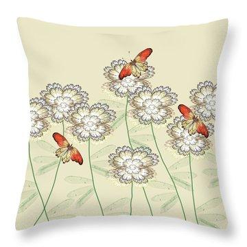 Incendia Flower Garden Throw Pillow by Rosalie Scanlon
