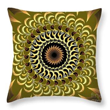 Incendia Kaleidoscope Throw Pillow by Deborah Benoit