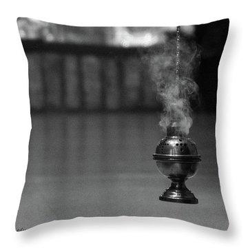 Incense Throw Pillow