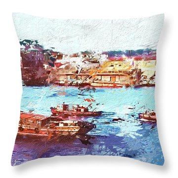 Inchon Harbor Throw Pillow