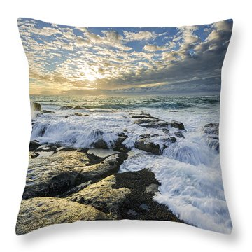 Incoming II Throw Pillow by Robert Bynum