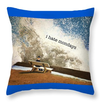 Incoming - Mondays Throw Pillow by Thomas Blood