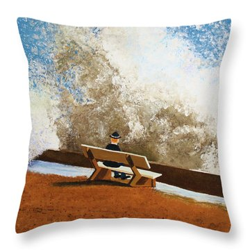 Incoming Throw Pillow by Thomas Blood