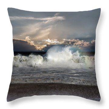 Incoming Tide Throw Pillow