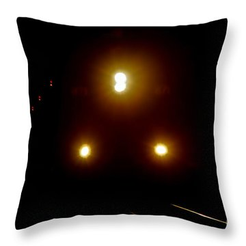 Throw Pillow featuring the photograph Incoming Train by Mariola Bitner