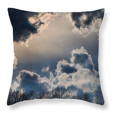 Incredible Clouds Throw Pillow