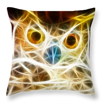 Incredible Owl Portrait Throw Pillow by Pamela Johnson