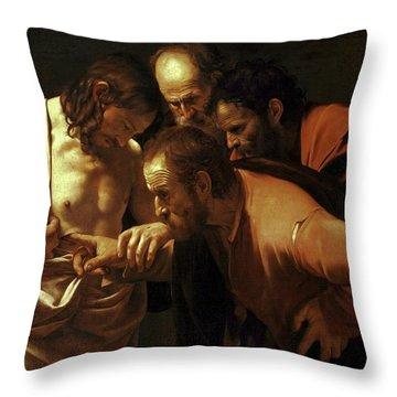Incredulity Of Saint Thomas Throw Pillow