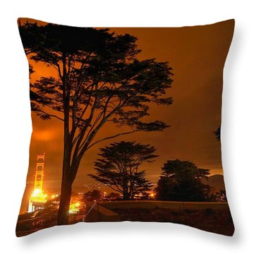 Indeed The Bridge Is Golden Throw Pillow