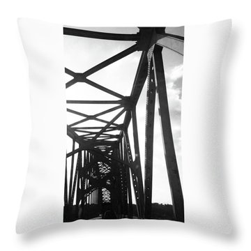 Throw Pillow featuring the photograph Indefinite Sight Bw by Jamie Lynn