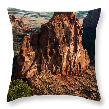 Throw Pillow featuring the photograph Indepedence Rock by Jay Stockhaus