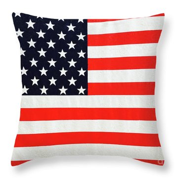 Independence Day Large Scale Oil On Canvas Original Landscape American Flag United States Flag Throw Pillow