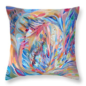 Throw Pillow featuring the painting Independence Day by Linda Cull