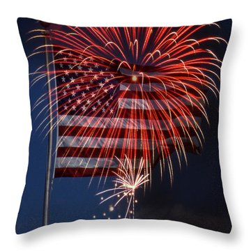 Independence Day Throw Pillow by Skip Willits