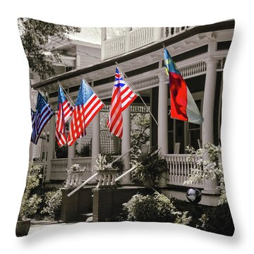Independence Day Southport Style Throw Pillow