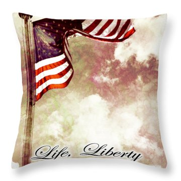 Independence Day Usa Throw Pillow by Phill Petrovic