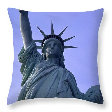 Independence Day Usa Throw Pillow by Travel Pics