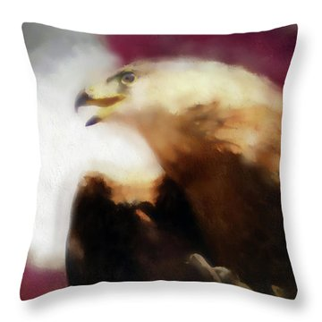 Independence Eagle Throw Pillow