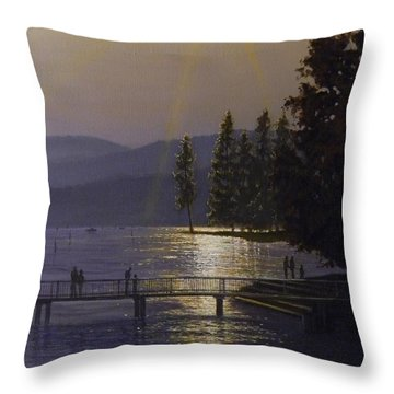 Independence Point, Lake Coeur D'alene Throw Pillow