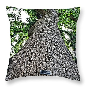 Independence Tree Throw Pillow