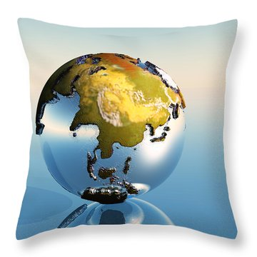 India, Asia, Japan Throw Pillow by Corey Ford
