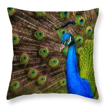 India Blue Throw Pillow