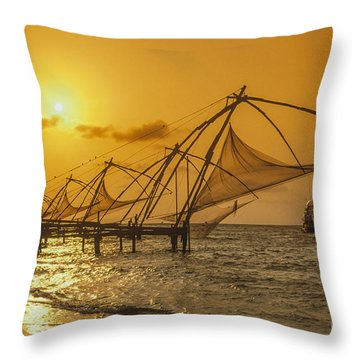 Throw Pillow featuring the photograph India Cochin by Juergen Held