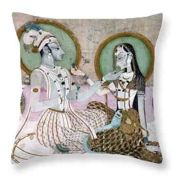 India: Couple Throw Pillow by Granger