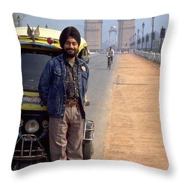 India Gate Throw Pillow
