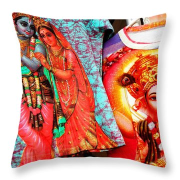 India Gods And Goddesses Throw Pillow