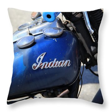 Indian Blue Throw Pillow