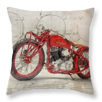Indian Boardtracker Throw Pillow