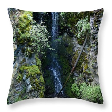 Throw Pillow featuring the photograph Indian Canyon Waterfall by Ben Upham III