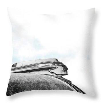 Indian Chief Hood Ornament Throw Pillow