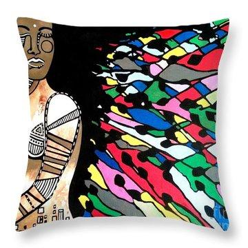 Indian Color Wheel Throw Pillow