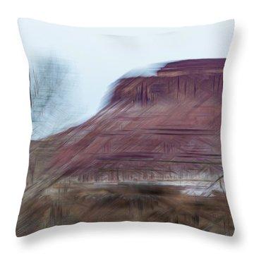 Indian Creek Winter Throw Pillow