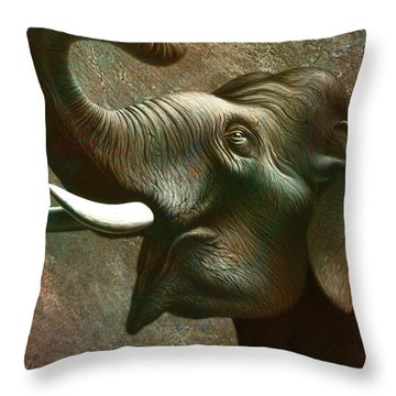 Indian Elephant 2 Throw Pillow