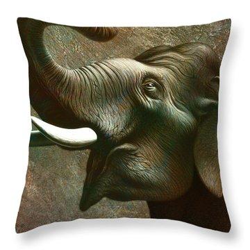 Indian Elephant 2 Throw Pillow