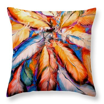 Indian Feathers 2006 Throw Pillow