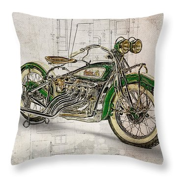 Indian Four 1930 Throw Pillow