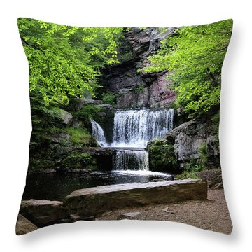 Indian Ladder Falls Throw Pillow