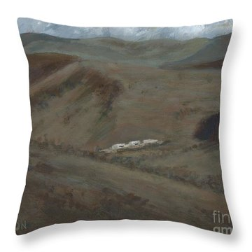 Indian Lodge - A View From The Top Ft. Davis, Tx Throw Pillow