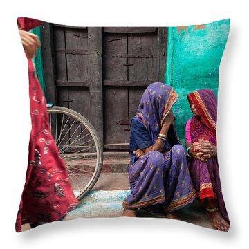 Indian Mood Throw Pillow