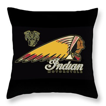 Indian Motorcycle Logo Series 2 Throw Pillow