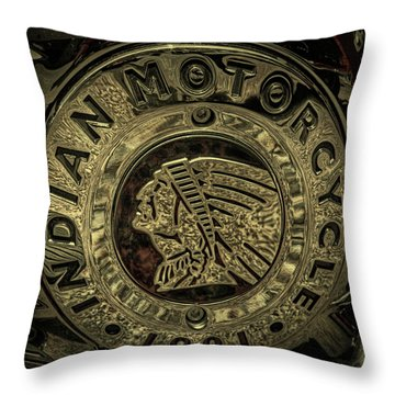 Indian Motorcycle Logo Throw Pillow