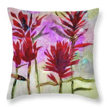 Indian Paintbrush Throw Pillow by Julie Maas