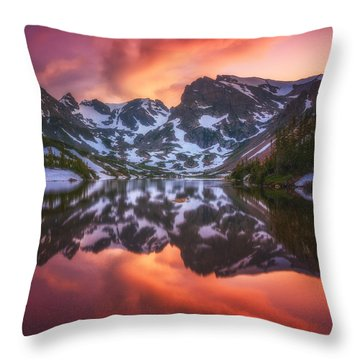 Indian Peaks Reflection Throw Pillow