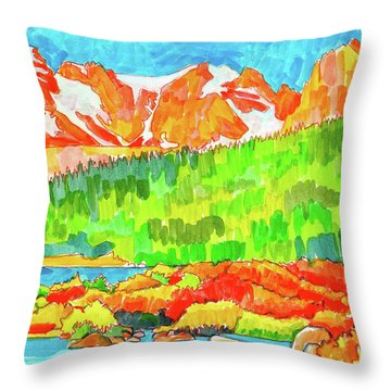 Indian Peaks Wilderness Throw Pillow